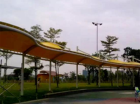 Tensile Walkway Membrane Roof Design