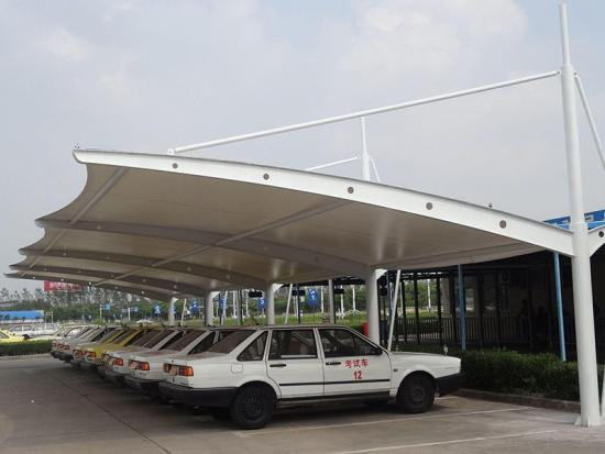 Modern White Car Parking Shade