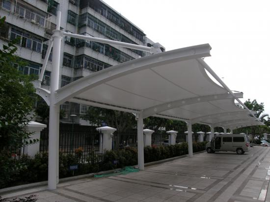 Residential White Car Parking Awning
